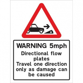 Warning 5mph with Diagram