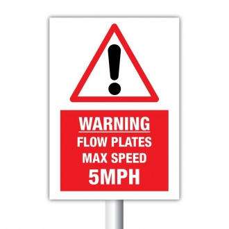 Warning Flow Plates with Warning Symbol