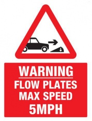 Warning Flow Plates with Diagram